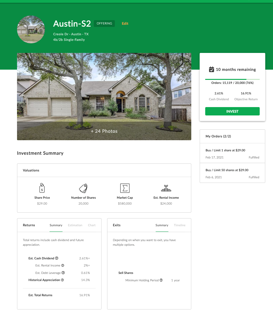 Property Offering Webpage